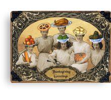 Thanksgiving Greetings Canvas Print