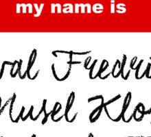 My Name is PERCIVAL.... - Critical Role Design Sticker