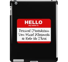 My Name is PERCIVAL.... - Critical Role Design iPad Case/Skin