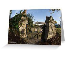 Church yard gate Greeting Card