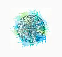 Blue/Green splatter mandala design. Unisex T-Shirt