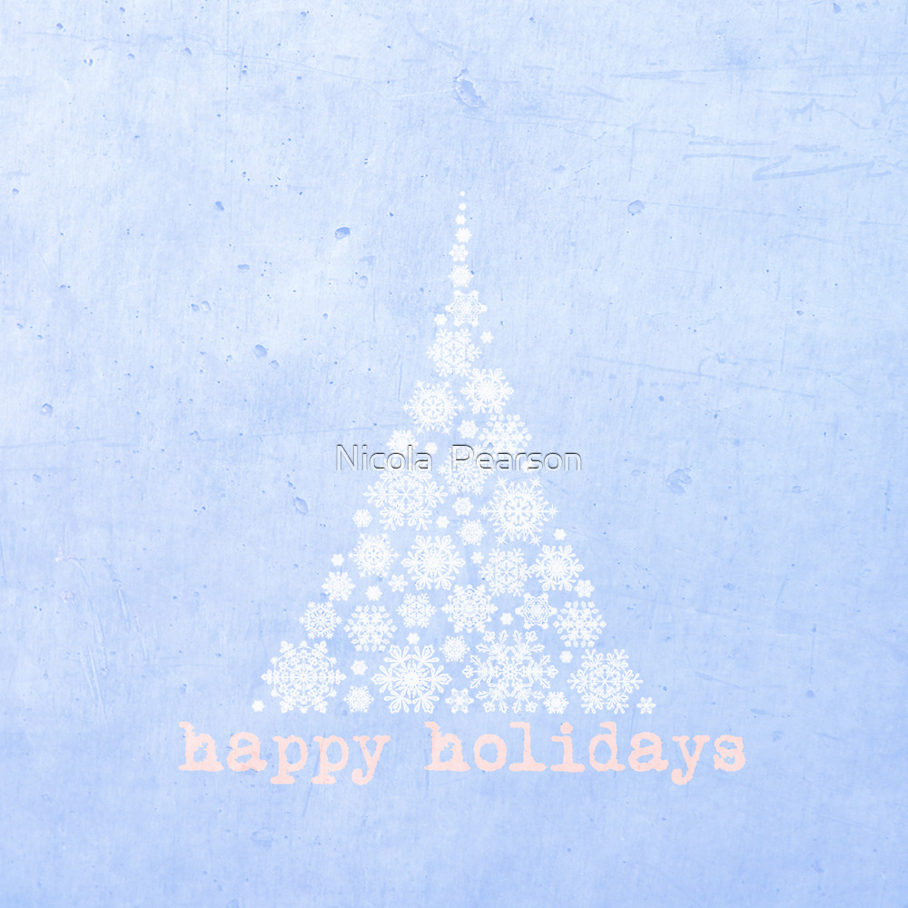 Blue Happy Holidays Design by Nicola  Pearson