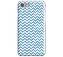 Blue Chic Chevron Pattern iPhone Case/Skin