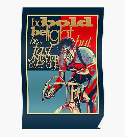 Retro Cycling Print Poster Hard as Nails  Poster