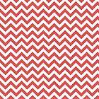 Red Chic Chevron Pattern by superstarbing