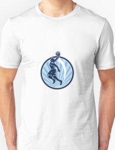 Basketball Player Dunk Ball Retro Unisex T-Shirt