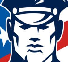 American Policeman Security Guard Retro Sticker