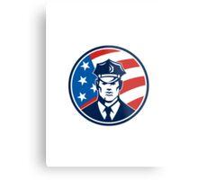 American Policeman Security Guard Retro Metal Print