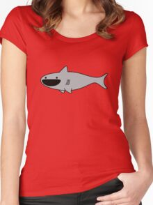 Cute Happy Shark Women's Fitted Scoop T-Shirt