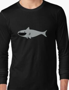 Cute Happy Shark Long Sleeve T-Shirt