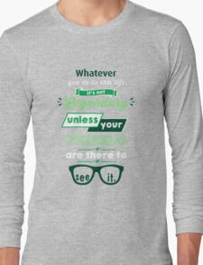 Legendary - Barney Stinson Quote (Green) Long Sleeve T-Shirt