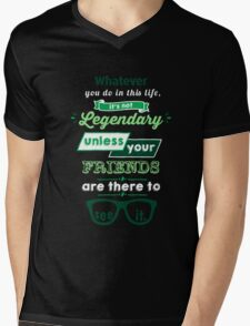 Legendary - Barney Stinson Quote (Green) Mens V-Neck T-Shirt