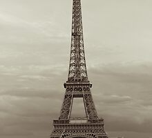 Sepia Eiffel Tower in Paris by Olivier Sohn