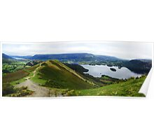 Catbells, Keswick and Derwent Water Poster