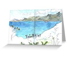 View Over Anse Soleil Greeting Card