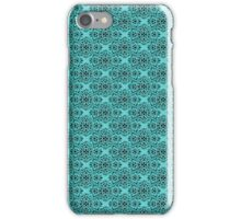 Turquoise Classic Damask Pattern iPhone Case/Skin