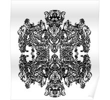 Mechanical Robotic Intricate Pattern Poster