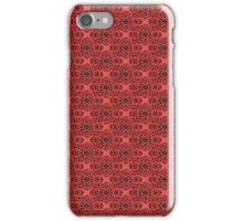 Red Classic Damask Pattern iPhone Case/Skin