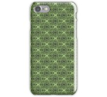Green Classic Damask Pattern iPhone Case/Skin