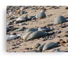 Rocks on a beach Canvas Print