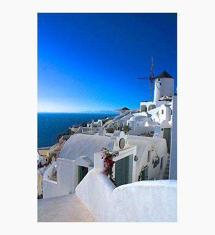 White on Blue Photographic Print