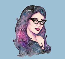 Retro cosmic girl Unisex T-Shirt