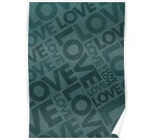 Love Typography Poster Poster
