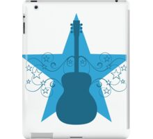 Blue Fancy Guitar Swirls Design iPad Case/Skin