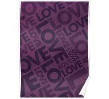 Love Typography Poster - Purple Poster