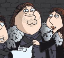 Family Guy in Stark game of thrones sticker Sticker