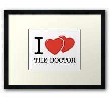 I (2 Hearts) The Doctor Framed Print