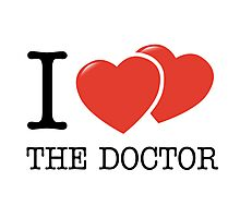 I (2 Hearts) The Doctor Photographic Print