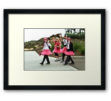 WALKING FOR THE CURE  Framed Print