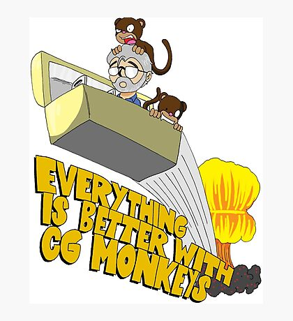 Everything is Better with CG monkies Photographic Print