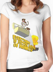 Everything is Better with CG monkies Women's Fitted Scoop T-Shirt