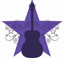 Purple Fancy Guitar Swirls Design by superstarbing