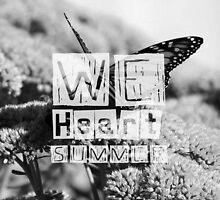 WeHeartSummer - Butterflies Black&White Phone Case by haewee