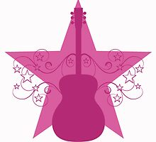 Pink Fancy Guitar Swirls Design by superstarbing