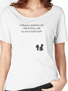Life Message Calvin and Hobbes Women's Relaxed Fit T-Shirt