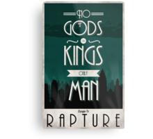 Rapture Travel Poster Metal Print