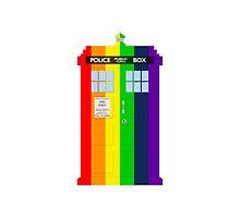 Rainbow Tardis by gothammaniax