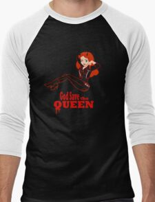 God Save the Queen (of Hell) Men's Baseball ¾ T-Shirt
