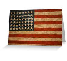 American Flag by Jasper Johns Greeting Card