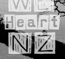 WeHeartNZ - Tshirt - Whale Bay Blk&Wht Sticker