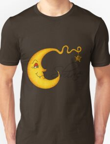 Glowing MoonShine With Star Unisex T-Shirt