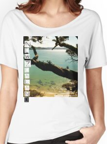 New Zealand - Whale Bay Tshirt Women's Relaxed Fit T-Shirt