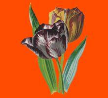 Tulip Vector on White Background Kids Tee