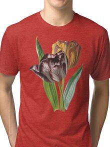 Tulip Vector on White Background Tri-blend T-Shirt