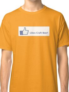 Likes Craft Beer Button Classic T-Shirt