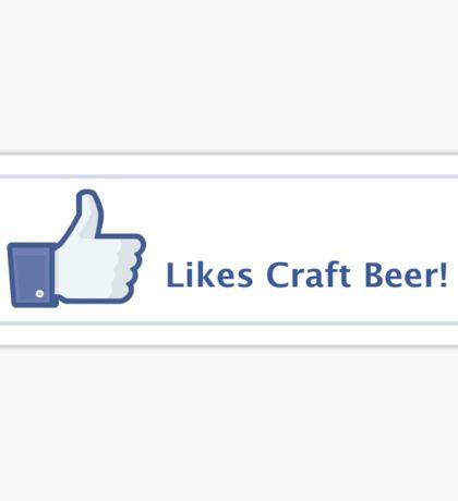 Likes Craft Beer Button Sticker